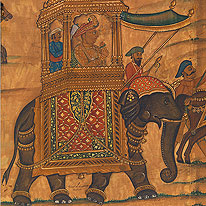 Haydar Ali on an elephant