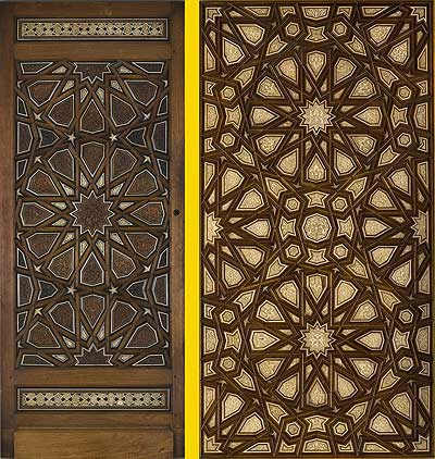 Carved and Inlaid Door Panel